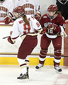 Taylor Wasylk (BC - 9), Lyndsey Fry (Harvard - 18) - The Boston College Eagles defeated the visiting Harvard University Crimson 6-2 on Sunday, December 5, 2010, at Conte Forum in Chestnut Hill, Massachusetts.