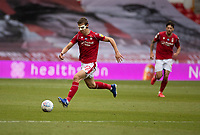 7th July 2020; City Ground, Nottinghamshire, Midlands, England; English Championship Football, Nottingham Forest versus Fulham; Ryan Yates of Notts Forest breaks forward on the ball