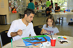 General Hospital Erik Valdez paints with Morgan and donates time at SoapFest's Celebrity Weekend - Art for Autism when the actors & kids make paintings for auction to benefit Autism on November 10, 2012 Marco Island, Florida. For info www.autism-society.org or www.autismspeaks.org. (Photo by Sue Coflin/Max Photos)