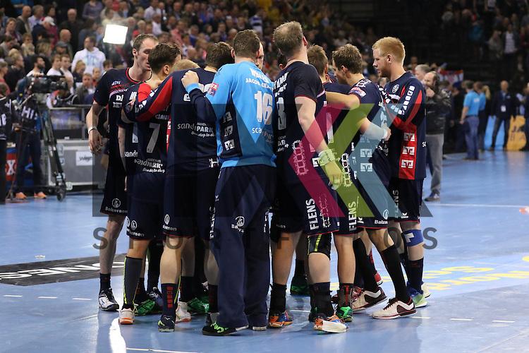 Flensburg, 23.04.16, Sport, Handball, VELUX EHF Champions League, Viertelfinale, SG Flensburg-Handewitt - KS Vive Tauron Kielce : <br /> <br /> Foto &copy; PIX-Sportfotos *** Foto ist honorarpflichtig! *** Auf Anfrage in hoeherer Qualitaet/Aufloesung. Belegexemplar erbeten. Veroeffentlichung ausschliesslich fuer journalistisch-publizistische Zwecke. For editorial use only.