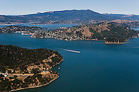 aerial photograph, Tiburon, Marin County, California