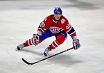 31 January 2009: Montreal Canadiens' center Maxim Lapierre in action against the Los Angeles Kings at the Bell Centre in Montreal, Quebec, Canada. The Canadiens defeated the Kings 4-3. ***** Editorial Sales Only ***** Mandatory Photo Credit: Ed Wolfstein Photo