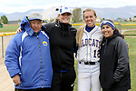 Dakota Robinson with coaches at the Sophomore Day celebration after the first game of the Western Nevada College softball doubleheader on Saturday, April 30, 2016 at Pete Livermore Sports Complex. Photo by Shannon Litz/Nevada Photo Source
