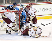 Patrick Wey (BC - 6), Adam Shemansky (Maine - 26), Joey Diamond (Maine - 39), Philip Samuelsson (BC - 5), Bill Arnold (BC - 24), John Muse (BC - 1) - The Boston College Eagles defeated the visiting University of Maine Black Bears 4-0 on Friday, November 19, 2010, at Conte Forum in Chestnut Hill, Massachusetts.