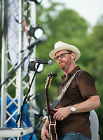 NWA Democrat-Gazette/BEN GOFF @NWABENGOFF<br /> The Downtown Livewires, with lead vocalist Roger Thomas, play Tuesday, July 3, 2018, during the Bella Vista Independence Day Blues Festival at Loch Lomond in Bella Vista.