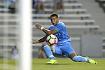 28 August 2016: North Carolina's Zach Wright scores a goal. The University of North Carolina Tar Heels hosted the Saint Louis University Billikens at Fetter Field in Chapel Hill, North Carolina in a 2016 NCAA Division I Men's Soccer match. UNC won the game 3-0.