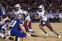 NWA Democrat-Gazette/BEN GOFF @NWABENGOFF<br /> Ryan Johnson, Prescott quarterback, runs the ball in the second quarter vs Booneville Saturday, Dec. 1, 2018, during the class 3A state semifinal game at Bearcat Stadium in Booneville.