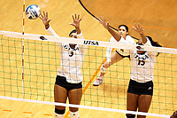 SAN ANTONIO, TX - OCTOBER 26, 2018: The University of Texas at San Antonio Roadrunners fall to the Rice University Owls 3-0 (13-25, 25-27, 21-25) at the UTSA Convocation Center. (Photo by Jeff Huehn)