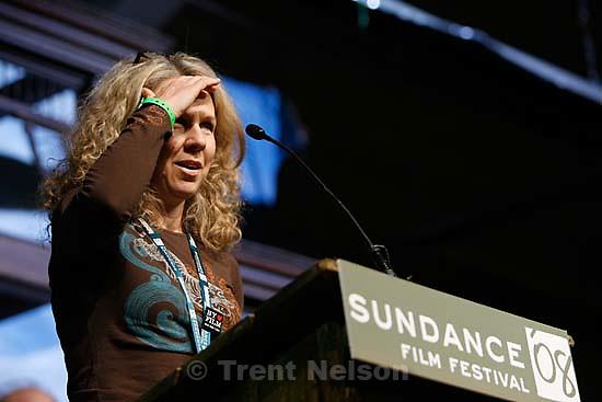 Park City - Courtney Hunt, whose film Frozen River won the Grand Jury Prize - Dramatic at the Sundance Film Festival Awards Ceremony, Saturday, January 26, 2008.