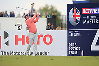 Ryan Fox (NZL) on the 4th tee during Round 2 of the Betfred British Masters 2019 at Hillside Golf Club, Southport, Lancashire, England. 10/05/19<br /> <br /> Picture: Thos Caffrey / Golffile<br /> <br /> All photos usage must carry mandatory copyright credit (&copy; Golffile | Thos Caffrey)