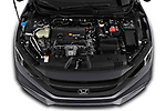 Car stock 2019 Honda honda LX 4 Door Sedan engine high angle detail view