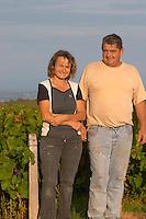 Odile et Gerard Melinon, winemakers owners. Domaine Melinon, Morgon, Beaujolais, France