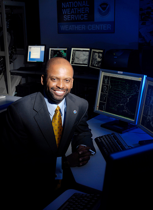 Adrian Gardner, Chief Information Officer for the National Weather Service at NOAA in Silver Spring, MD. August, 21, 2007 (James J. Lee / Federal Times)