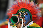 16 JUN 2010: South Africa fan with a vuvuzela. The South Africa National Team lost 0-3 to the Uruguay National Team at Loftus Versfeld Stadium in Tshwane/Pretoria, South Africa in a 2010 FIFA World Cup Group A match.