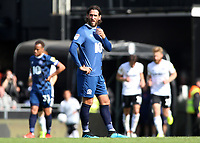 Blackburn Rovers' Danny Graham cuts a frustrated figure as Fulham celebrate going 2-0 ahead<br /> <br /> Photographer David Shipman/CameraSport<br /> <br /> The EFL Sky Bet Championship - Fulham v Blackburn Rovers - Saturday 10th August 2019 - Craven Cottage - London<br /> <br /> World Copyright © 2019 CameraSport. All rights reserved. 43 Linden Ave. Countesthorpe. Leicester. England. LE8 5PG - Tel: +44 (0) 116 277 4147 - admin@camerasport.com - www.camerasport.com