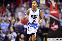 Washington, DC - MAR 11, 2018: Rhode Island Rams guard Fatts Russell (2) brings the ball up court during the Atlantic 10 men's basketball championship between Davidson and Rhode Island at the Capital One Arena in Washington, DC. (Photo by Phil Peters/Media Images International)