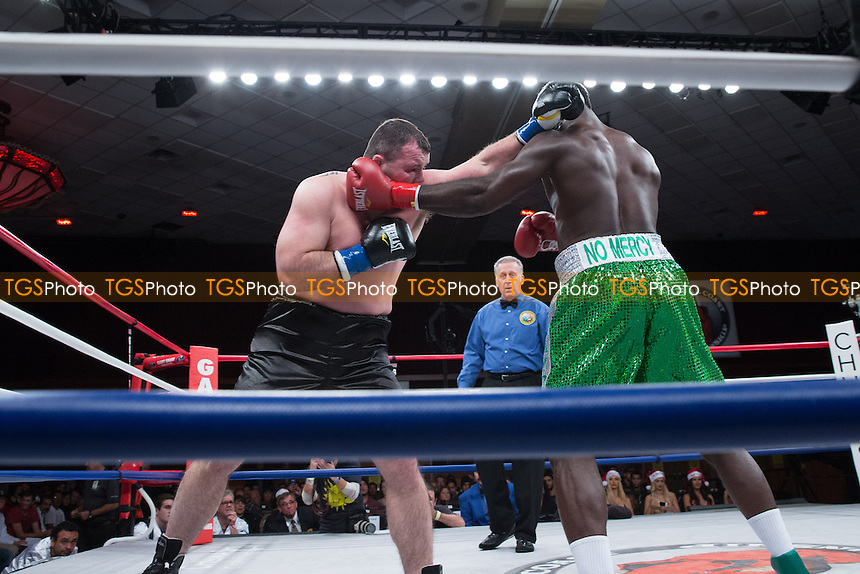 Lateef Kayode defeats Travis Jon Fulton - Central Coast Championship Night Boxing at the Chumash Casino Resort & Spa in Santa Ynez, California, promoted by Gary Shaw Promotions - 06/12/13 - MANDATORY CREDIT: Dwight McCann/TGSPHOTO - Self billing applies where appropriate - 0845 094 6026 - contact@tgsphoto.co.uk - NO UNPAID USE