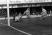 22/11/80 Blackpool v Fleetwood Town FAC 1 Goalkeeper Newman gathers the ball from the onrushing Wayne Entwistle ..©  Phill Heywood