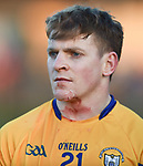 A bloodied Podge Collins of  Clare waits for the extra time during their NHL quarter final against Limerick at the Gaelic Grounds. Photograph by John Kelly.