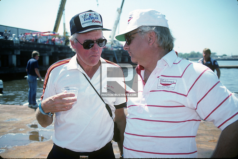 Two of the greats of the sport of powerboat racing: Fred Miller and Will Pergande.