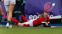 9th February 2020; Energia Park, Dublin, Leinster, Ireland; International Womens Rugby, Six Nations, Ireland versus Wales; Lauren Smyth of Wales scoring her sides first try of the game 17 - 5