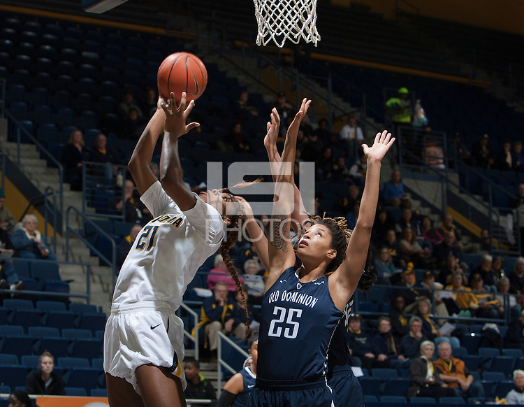 Berkeley, CA - December 29, 2014: California Golden Bears'  79-59 victory against Old Dominion Monarchs during NCAA Women's Basketball game at Haas Pavilion.