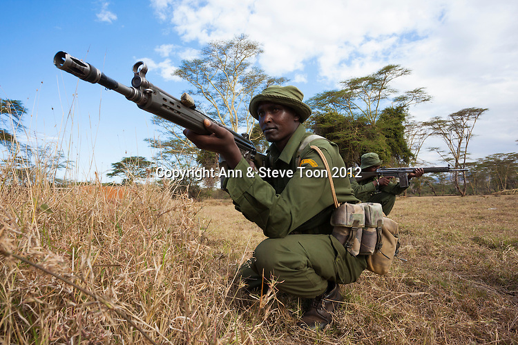 Anti-poaching patrol, Lewa Wildlife Conservancy, Laikipia, Kenya, September 2012