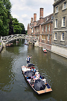 Punting River Cam, Cambridge UK July 2017