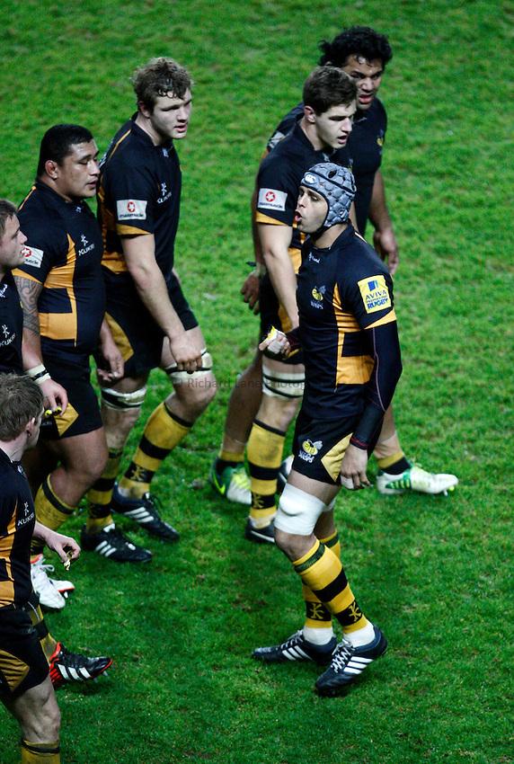 Photo: Richard Lane/Richard Lane Photography. London Welsh v London Wasps. 29/12/2012. Wasps' Marco Wentzel calls the move.