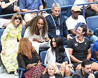 NEW YORK, NY - September 7 : Anna Wintour, Venus Williams, Oracene Price, Meghan Markle, Duchess of Sussex watch the Women's Singles Finals match between Serena Williams vs Bianca Andressscu on Arthur Ashe Stadium during the 2019 US Open Tennis Tournament at the USTA Billie Jean King National Tennis Center on September 7, 2019 in Flushing, Queens, New York City, <br /> CAP/MPI/JP<br /> ©JP/MPI/Capital Pictures