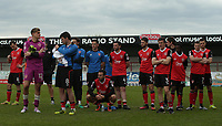 Morecambe players thanks the fans for there support over the 2016/17 season at there last home match of the season during the Sky Bet League 2 match between Morecambe and Wycombe Wanderers at the Globe Arena, Morecambe, England on 29 April 2017. Photo by Stephen Gaunt / PRiME Media Images.