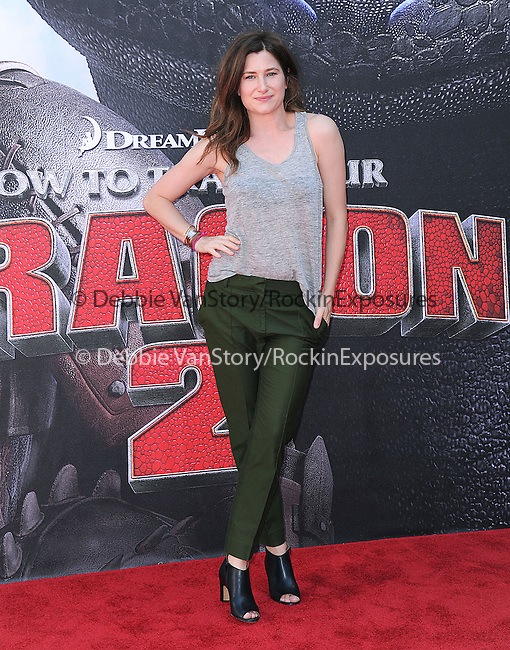 Kathryn Hahn attends The Twentieth Century Fox's How To Train Your Dragon 2 Premiere at The Regency Village in Westwood, California on JUNE 08,2014                                                                               © 2014 Hollywood Press Agency