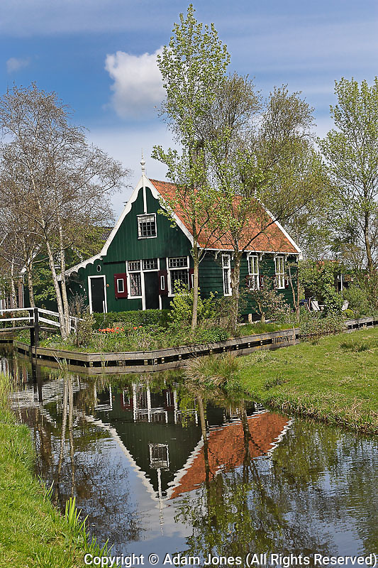 Classic Dutch homes, Zaanse Schans, Holland, Netherlands
