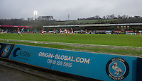 General view behind an Advertising board during the Sky Bet League 2 match between Wycombe Wanderers and Morecambe at Adams Park, High Wycombe, England on 2 January 2016. Photo by Andy Rowland / PRiME Media Images