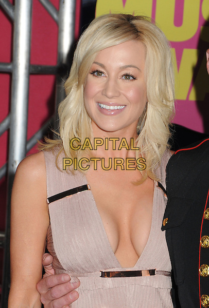 Kellie Pickler.2012 CMT Music Awards held at Bridgestone Arena, Nashville, Tennessee, USA..June 6th, 2012.half length beige pink dress low cut neckline cleavage .CAP/ADM/LF.©Laura Farr/AdMedia/Capital Pictures.