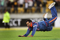 India's Rohit Sharma fails to catch Brendon mcCullum on the last ball of the match during 2nd Twenty20 cricket match match between New Zealand Black Caps and West Indies at Westpac Stadium, Wellington, New Zealand on Friday, 27 February 2009. Photo: Dave Lintott / lintottphoto.co.nz