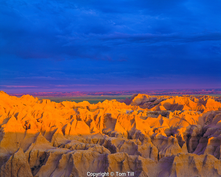 Stormlight at the Badlands, Badlands National Park, South Dakota