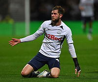 Preston North End's Tom Barkhuizen<br /> <br /> Photographer Dave Howarth/CameraSport<br /> <br /> The Carabao Cup Third Round - Preston North End v Manchester City - Tuesday 24th September 2019 - Deepdale Stadium - Preston<br />  <br /> World Copyright © 2019 CameraSport. All rights reserved. 43 Linden Ave. Countesthorpe. Leicester. England. LE8 5PG - Tel: +44 (0) 116 277 4147 - admin@camerasport.com - www.camerasport.com