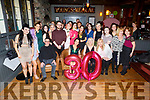 Carly Norris from Ballymullen Tralee celebrating her 30th birthday in the Ashe Hotel on Saturday night.<br /> Seated l to r: Dave, Carly and Terri Norris