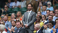 Olympic sailor Ben Ainslie is introduced to the Centre Court crowd <br /> <br /> Photographer Rob Newell/CameraSport<br /> <br /> Wimbledon Lawn Tennis Championships - Day 6 - Saturday 6th July 2019 -  All England Lawn Tennis and Croquet Club - Wimbledon - London - England<br /> <br /> World Copyright © 2019 CameraSport. All rights reserved. 43 Linden Ave. Countesthorpe. Leicester. England. LE8 5PG - Tel: +44 (0) 116 277 4147 - admin@camerasport.com - www.camerasport.com