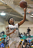 Jordan Redd #10 of Westbury drives to the net during a non-league varsity boys basketball game against Deer Park at Westbury High School on Tuesday, Dec. 12, 2017. Deer Park won by a score of 62-51.