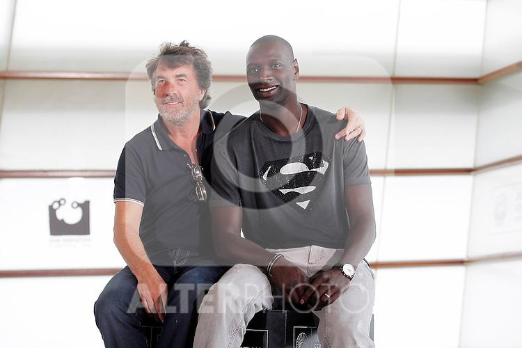 French actors Omar Sy (r) and Francois Cluzet during the 59th San Sebastian Donostia International Film Festival - Zinemaldia.September 24,2011.© Acero / ALFAQUI