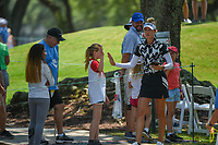 Nelly Korda (USA) high fives some young fans on her way to the tee on 8 during round 1 of the 2019 US Women's Open, Charleston Country Club, Charleston, South Carolina,  USA. 5/30/2019.<br /> Picture: Golffile | Ken Murray<br /> <br /> All photo usage must carry mandatory copyright credit (© Golffile | Ken Murray)