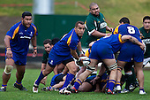 Vincent Pihigia runs from a midfield ruck. Oceania Cup & RWC Qualifier rugby game between the Cook Islands & Niue played at Growers Stadium, Pukekohe, on Saturday 27th June 2009. The Cook Islands won 29 - 7 after leading 9 - 7 at halftime.
