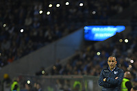 27th October 2019; Dragao Stadium, Porto, Portugal; Portuguese Championship 2019/2020, FC Porto versus Famalicao; Famalicao manager João Pedro Sousa watches the action from the sideline