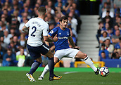 9th September 2017, Goodison Park, Liverpool, England; EPL Premier League Football, Everton versus Tottenham; Leighton Baines of Everton stretches to block a pass by Kieran Trippier of Tottenham