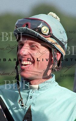 Richard Migliore photographed at Saratoga Race Course during the 1989 meeting