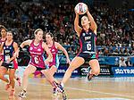19/04/2015<br /> ANZ Championship 2015<br /> Round 8 Vixens v Steel at Hisense Arena<br /> <br /> Liz Watson<br /> <br /> Photo: Grant Treeby