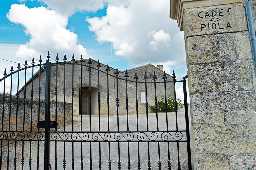 gate chateau cadet piola saint emilion bordeaux france