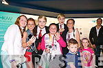 Kerry's Eye 'Meet and Greet' competition winners meeting Jedward at the back stage at Denny Street stage in the Kerry County Museum on Friday. Pictured with Jedward were: Mary O'Sullivan, Laura Murphy, Holly Moriarty, Sarah Murphy, Killian and Sarah Fitzgerald.